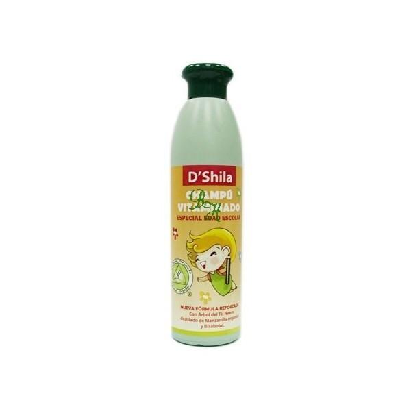 Champú vitaminado orgánico -antiparásitos- ESPECIAL EDAD ESCOLAR-250 ml D´shila