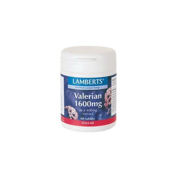 Valeriana 1600 mg 60 tabletas Lamberts