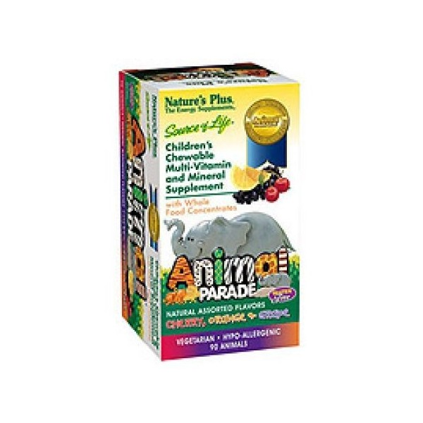 Animal parade multivitaminico sabor cereza 60 comprimidos masticables Nature´s Plus