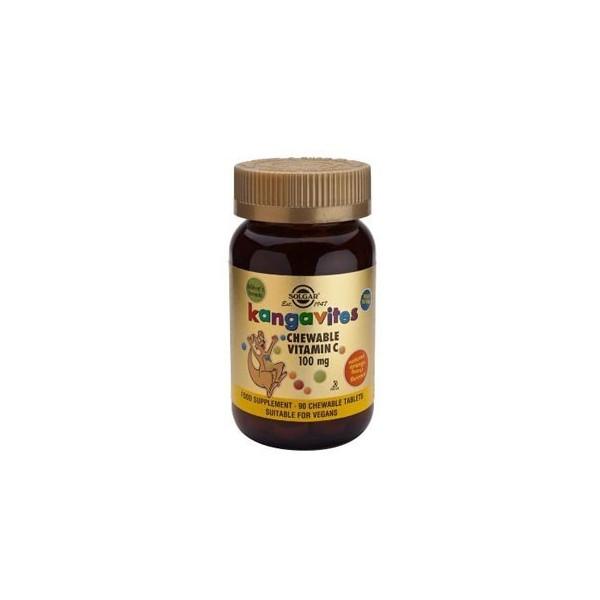 Kangavites vitamina C 100 mg 90 comprimidos masticables Solgar