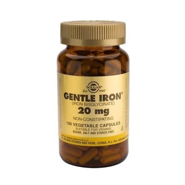 Gentle Iron -hierro gentle- 20 mg 180 cápsulas Solgar