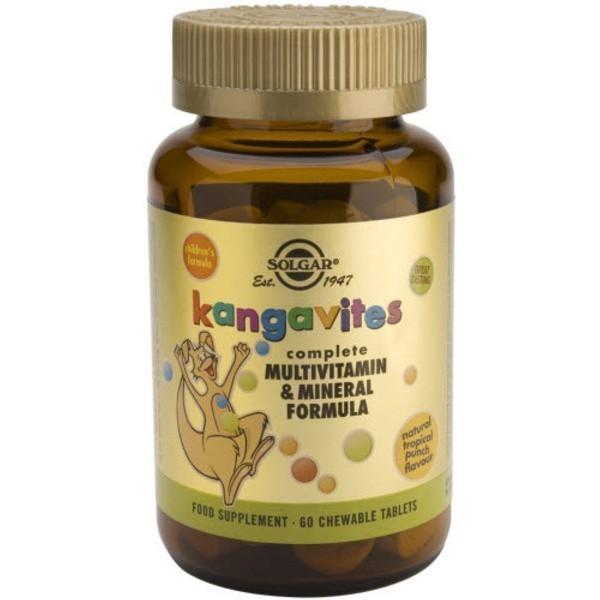 Kangavites Multi -Frutas Tropicales- 60 comprimidos masticables Solgar