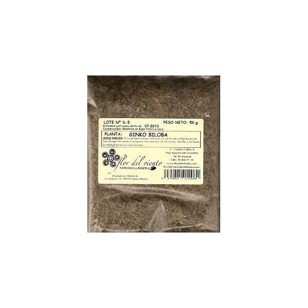 Ginkgo Biloba como planta medicinal en bolsa Pinisan