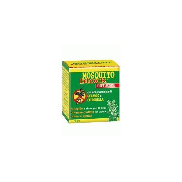 Mosquito block Difusor ambiental repelente de mosquitos 30ml -ESI -DESCATALOGADO-