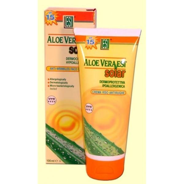Crema solar facial antiarrugas Aloe Vera FP-15 100 ml -ESI