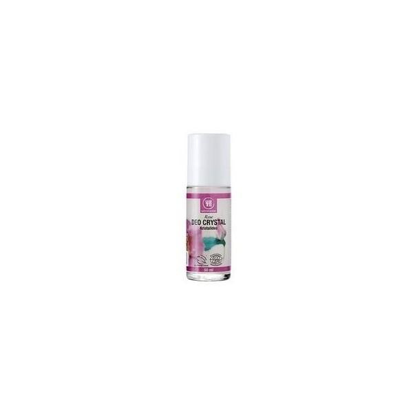Desodorante deo crystal roll-on Rosas Bio 50 ml Urtekram
