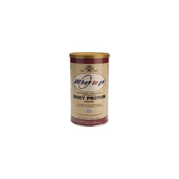 Whey to go proteína de suero en polvo (sabor chocolate) 454 g Solgar