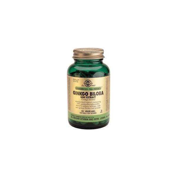 Ginkgo biloba extracto de hoja 60 cápsulas vegetales Solgar