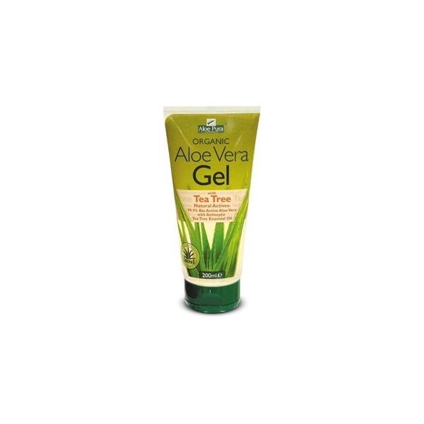 Aloe vera gel 99,9% con Árbol de Té 200ml Aloe Pura